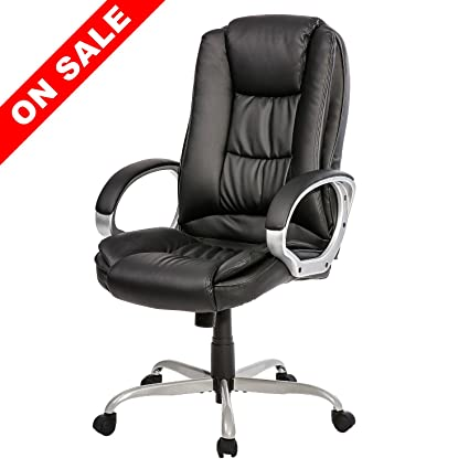 Merax Office Desk Chair Ergonomic High Back PU Leather Chair Executive  Swivel Task Chair New Upgrade