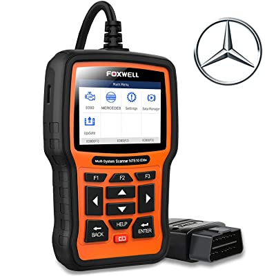 FOXWELL NT510 Elite Scanner for Mercedes Benz/Sprinter/Smart Full System Bi-Directional OBD2 Code Reader Professional Automotive Diagnostic Scan Tool w/HVAC ABS Bleed SRS TPMS Transmission Oil Reset: Automotive