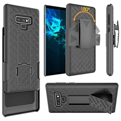 Samsung Galaxy Note 9 Belt Clip Holster Case, [ZASE] Design Galaxy Note9  Holster Slim Fit Armor Shell Protective Case Defender Swivel Belt Clip