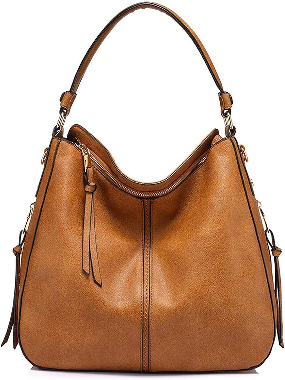 handbags women shouldcrossbody bag female casual large totes artificial leathladies hobo messengbag,light brown,