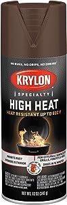 Krylon K01709077 High Heat Spray Paint, Aerosol, Brown