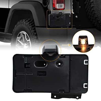 License Plate Holder Frame, Rear License Plate Mounting Bracket for 2007-2020 Jeep Wrangler JK JKU: Automotive