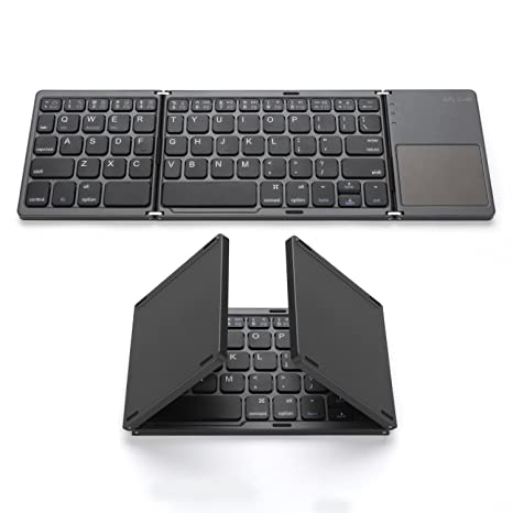 ebaa3e2bb88 Foldable Bluetooth Keyboard, Jelly Comb Pocket Size Portable Mini BT  Wireless Keyboard with Touchpad for