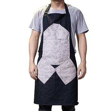 Grembiule Da Cucina Uomo.Qees Grembiule Da Cucina Per Uomo Resistente E Denim