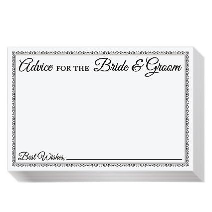 Amazon Com Jot Mark Wedding Advice Cards For The Bride Groom
