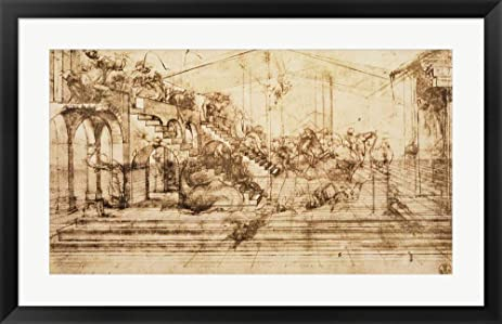 Amazon.com: Perspective Study for the Background of The Adoration of ...