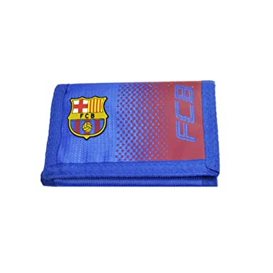 1c335357a81 FC Barcelona Official Fade Football Crest Wallet (One Size) (Blue Red)   Amazon.co.uk  Clothing