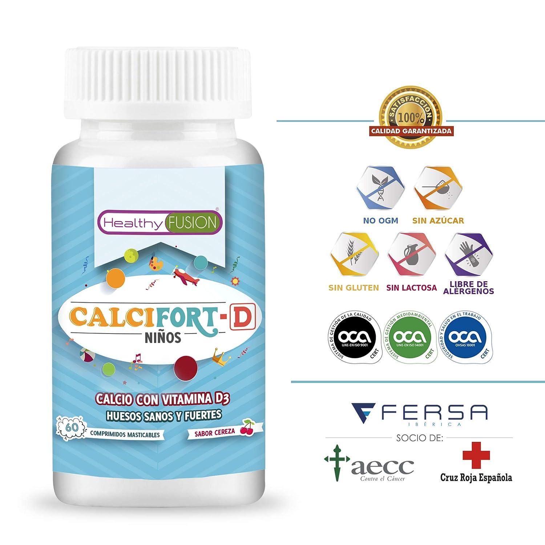 Calcio Puro microencapsulado con Vitamina D3 de alta biodisponibilidad - Huesos sanos y fuertes para el crecimiento saludable de los niños - Laboratorio ...