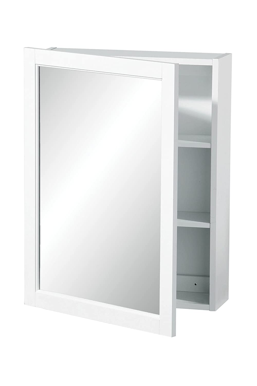 Beau Premier Housewares Wall Cabinet With Mirrored Single Door, 66 X 51 X 16 Cm    White: Amazon.co.uk: Kitchen U0026 Home