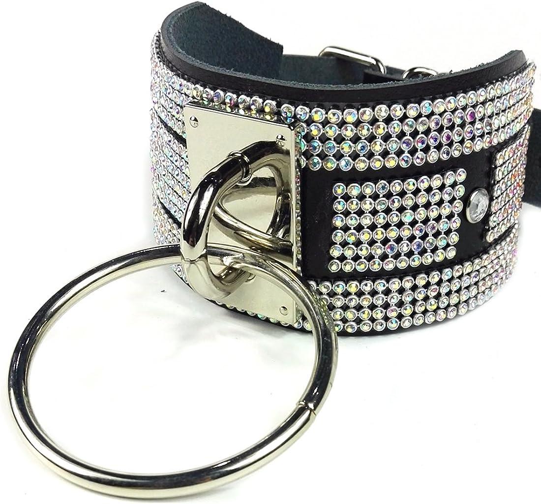 Octavion studded leather belt with metals symbols