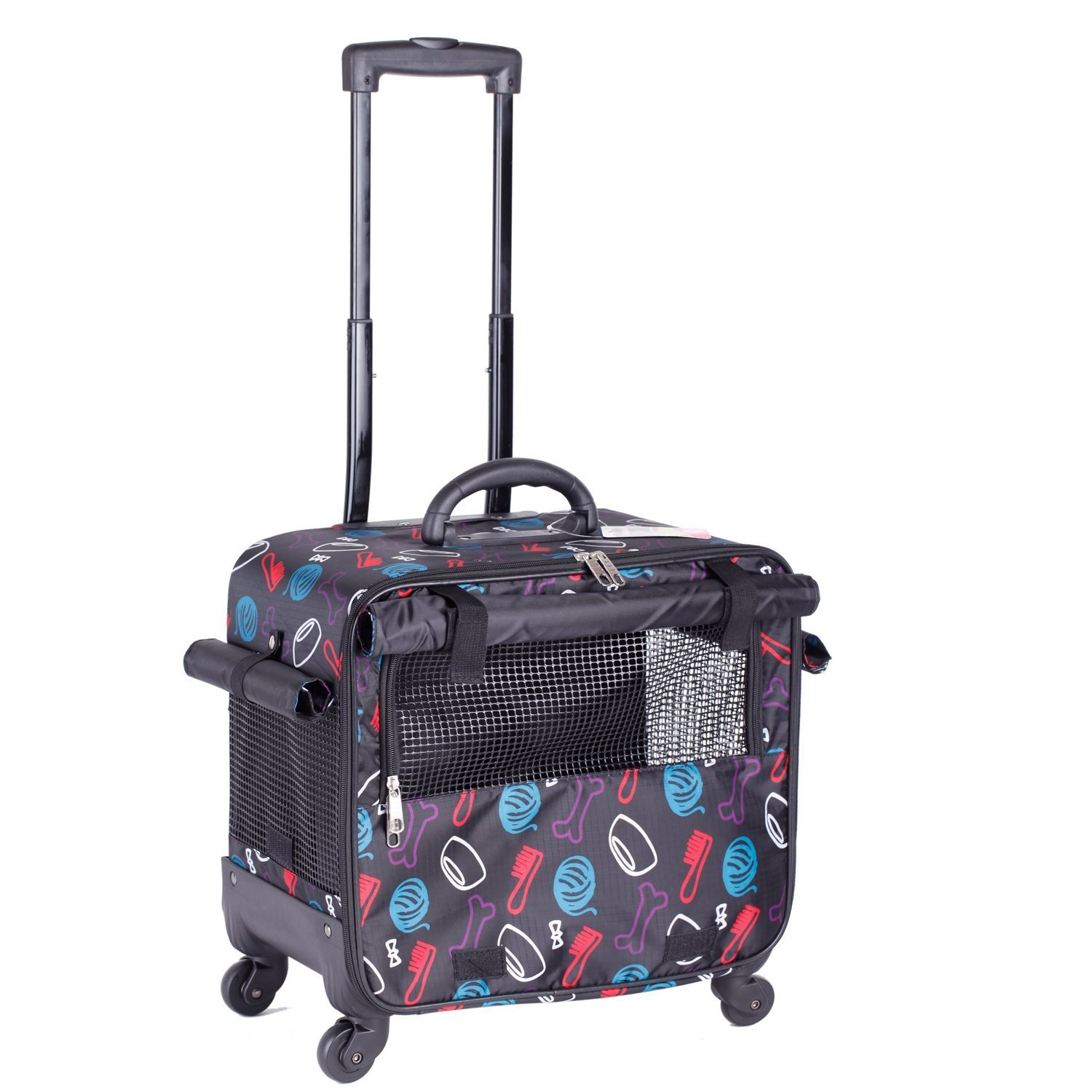 BELLAMORE GIFT Carrier Cat Bag Handbag Pet Carrier Chihuahua Kitten Vet Cage Case Trolley Suitcase by BELLAMORE GIFT