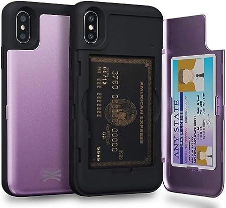 TORU CX Pro Funda iPhone XS Carcasa Cartera Morado con Tarjetero Oculto y Espejo para Apple iPhone XS (2018) / iPhone X (2017): Amazon.es: Electrónica