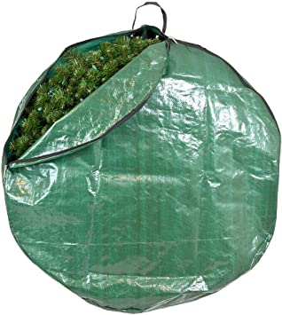- for Christmas Wreath up to 36 Inches in Diameter Santas Bags 36-Inch Bag Hooks Directly to Your Wire Wreath Frames to Prevent Sagging and Deformed Wreaths 36 Inch Wreath Storage Container