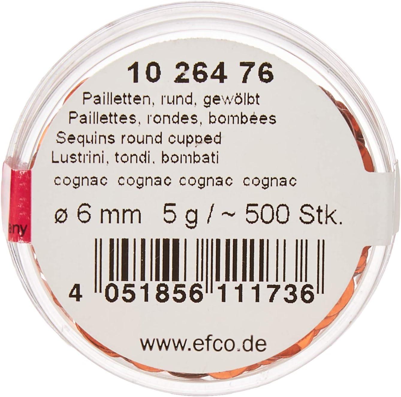 Blanc Opaque 500 Efco Fil Rond incurv/é 6/mm Sequins 5/g