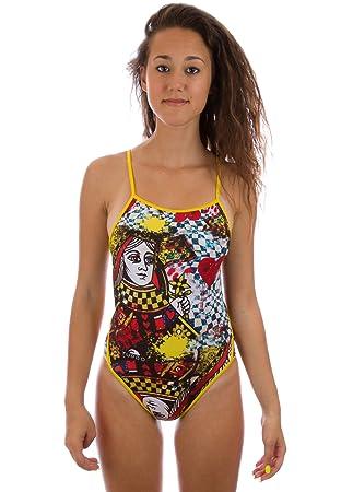 QUEEN OF HEARTS - Bañador natación mujer: Amazon.es: Deportes y aire libre