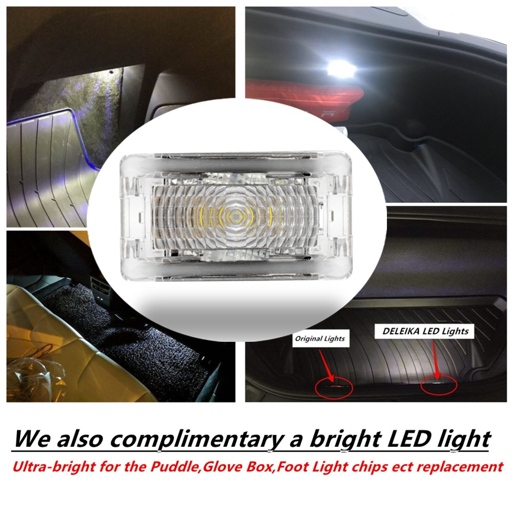 DELEIKA Ultra-bright LED Interior Light Upgrade Kit for the Tesla Model S /& X replacement 6-pc set