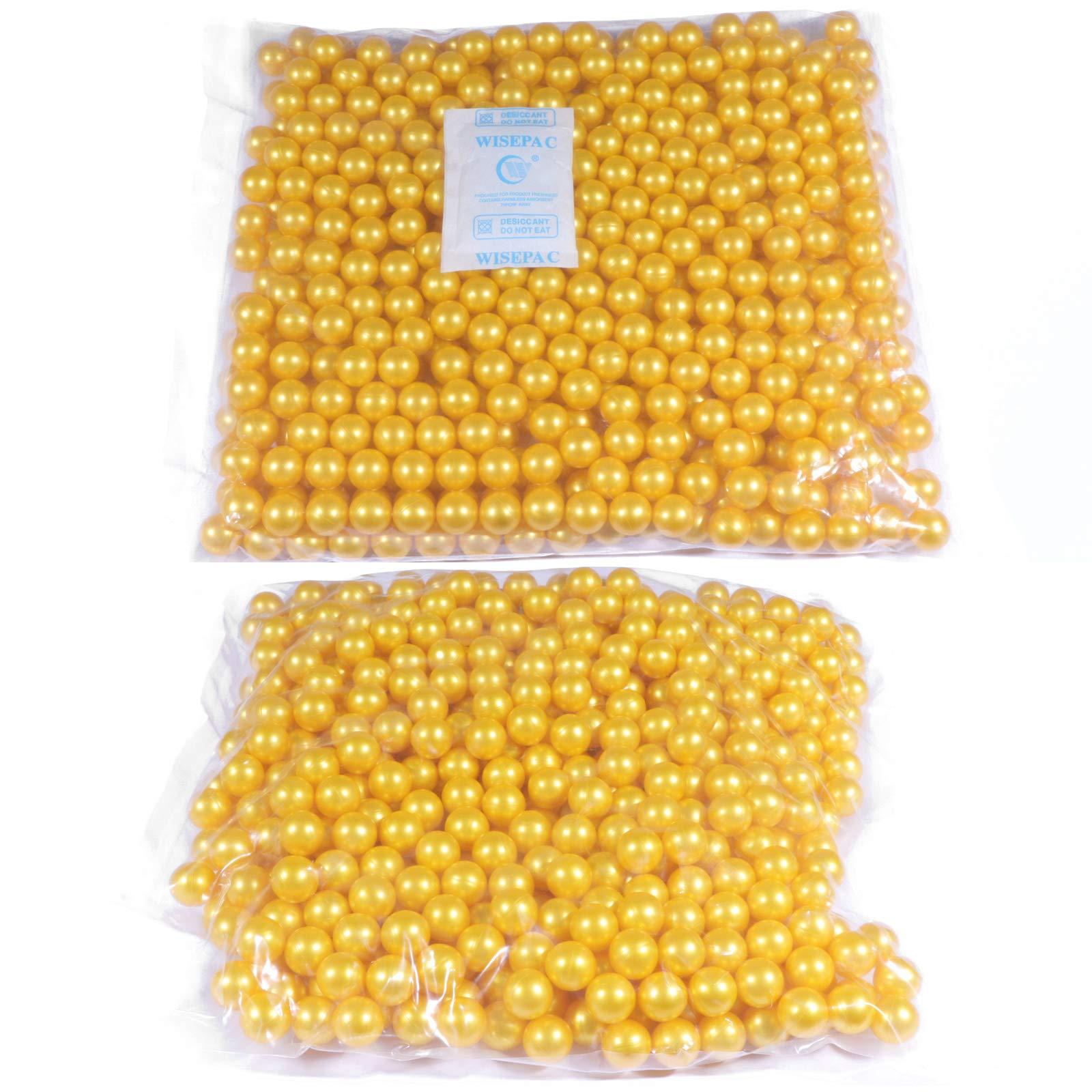 DAWOOLUX Paintballs 500, 1000, or 2000 Rounds PEG Tournament Pellets .68 Caliber Orange Golden Colors