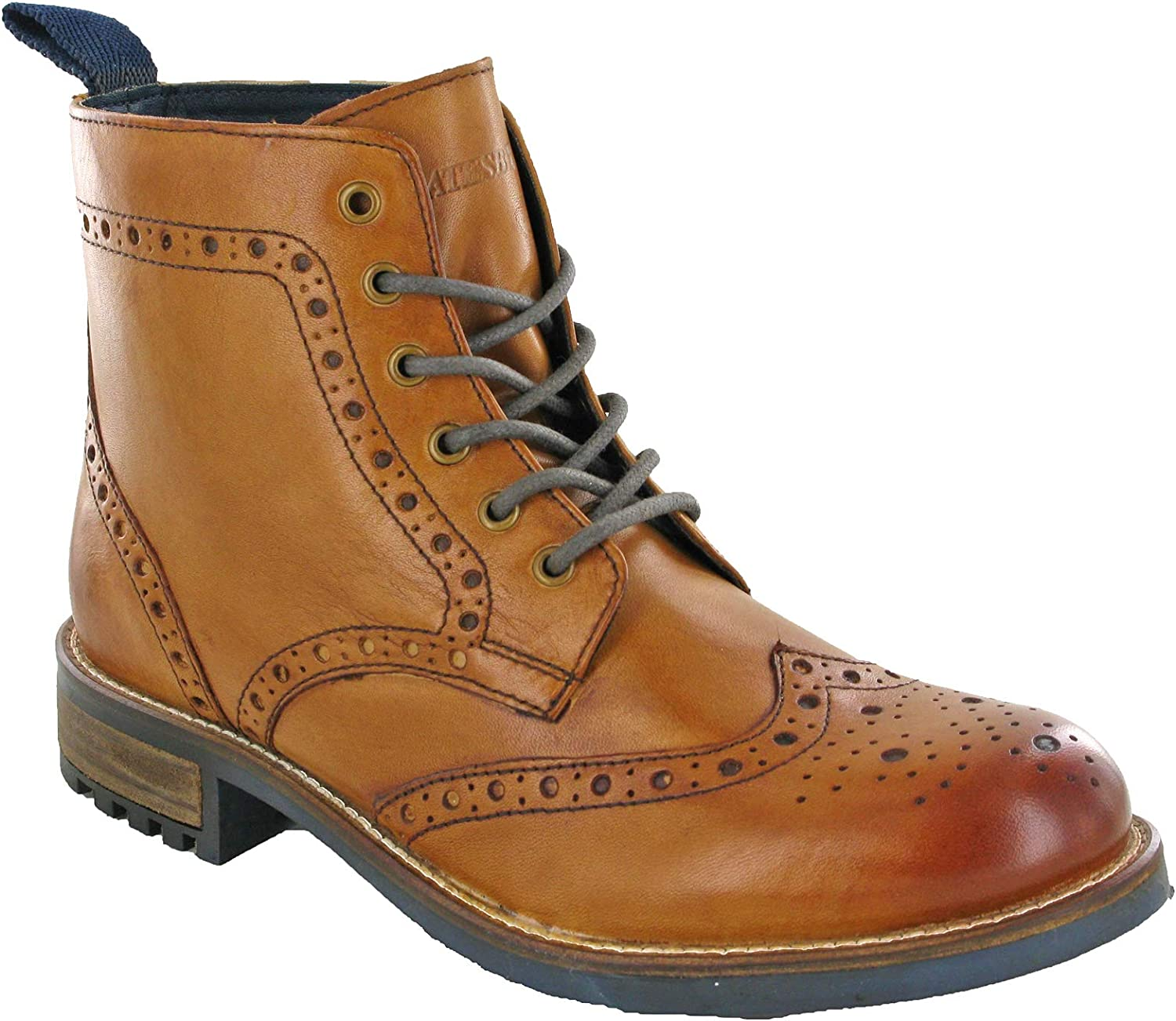 Derby Brogue Leather Boots Mens Classic Ankle Padded UK 7-12: Amazon.co.uk:  Shoes & Bags