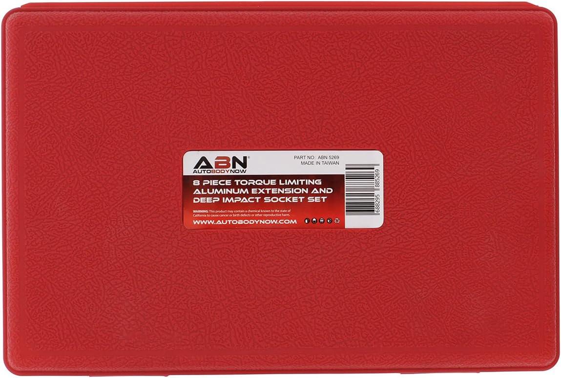 "ABN 1//2 Inch Dr Torque Limiting 8"" Extension Bars /& Lug Nut Deep Impact Sockets"