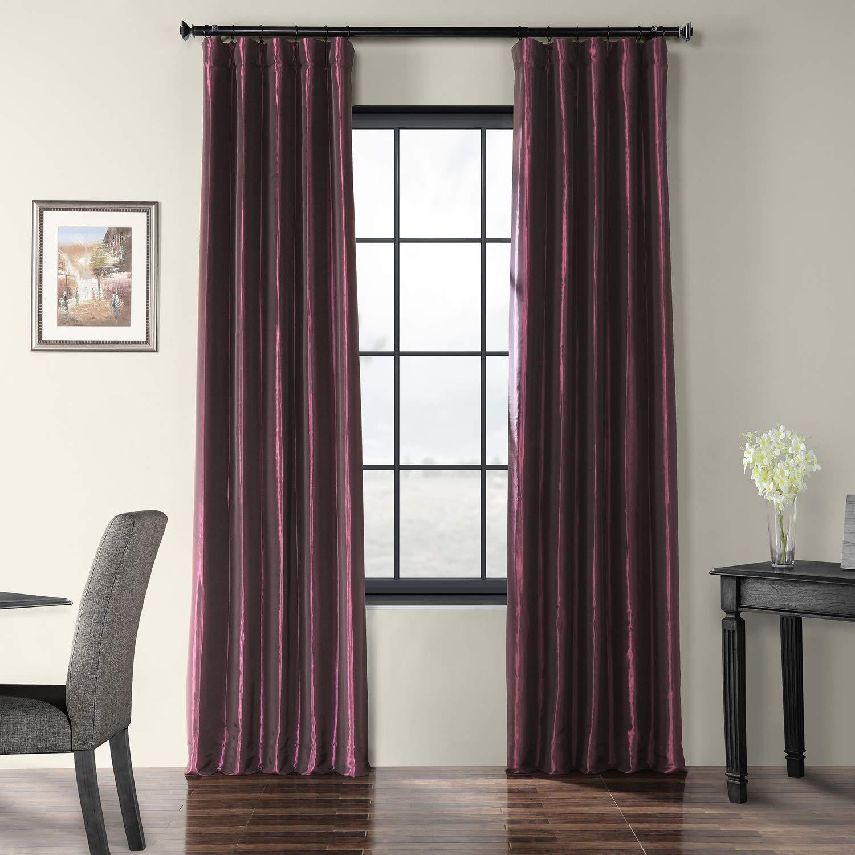Royal Port 50 x 108 PTCH-JTSP429-108 Faux Silk Taffeta Curtain, Winter Ice, 50  x 108