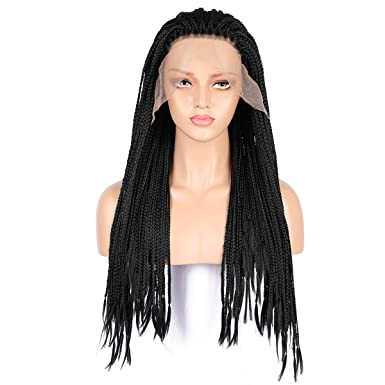 Image Unavailable. Image not available for. Color  MostaShow Front Human  Hair Wigs Full Lace Braid ... f81c40df6