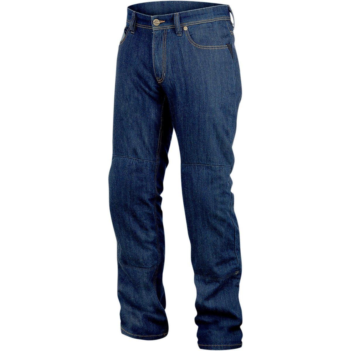 Alpinestars Resist Tech Mens Denim On-Road Racing Motorcycle Pants - Blue/Size 30
