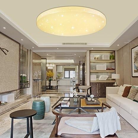 VGO® 16W LED Starlight-Effekt Deckenlampe Warmweiß Wohnzimmer  Deckenbeleuchtung Mordern Badleuchte 2700K-3000K