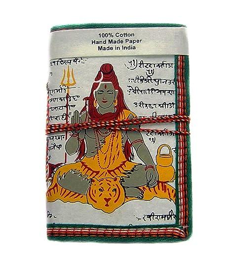 Rastogi Handicrafts Handmade Paper Diary White Shiva Snack God