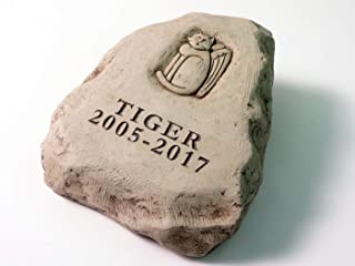 product image for Carruth Studios 2 Lines Engraved CAT Memorial Stone 6.5 Inches Tall