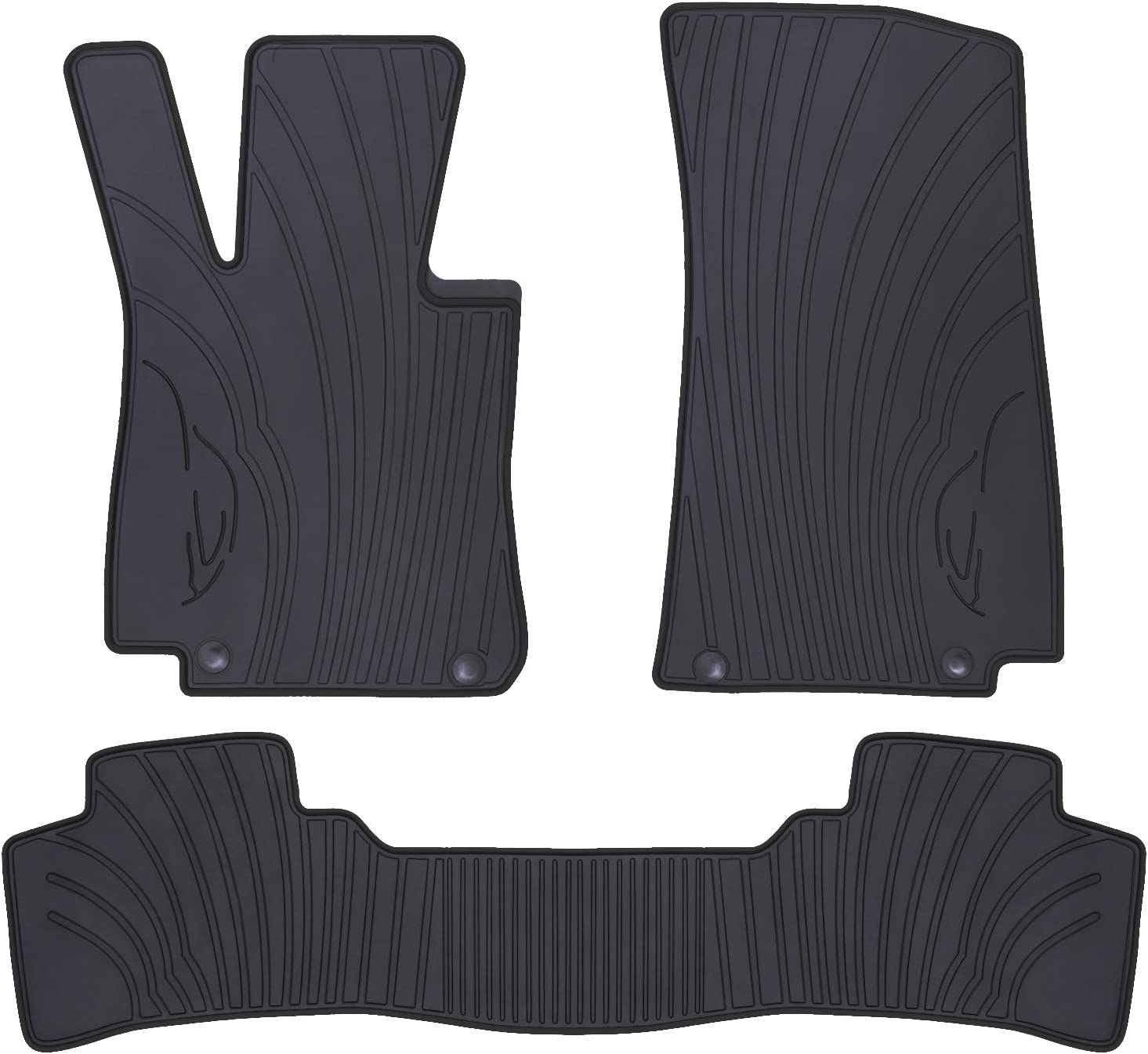 San Auto Car Floor Mat for Mercedes-Benz GLC 2016 2017 2018 2019 Custom Fit Full Black Auto Floor Liners All Weather Heavy Duty Odorless