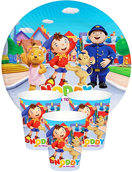 c419d0bfa6 Themez Only BALLOON JUNCTION NODDY THEME Birthday Party Supplies Tableware  - Paper Plates