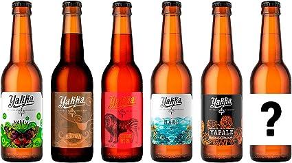 Pack de Degustación de 6 Botellas de Cerveza Artesanal Yakka de 33 ...