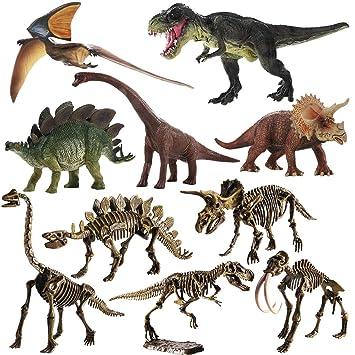 12 x Kunststoff Dinosaurier Figur Modell Spielfiguren Kinder Spielzeug Deko