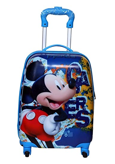 Kids Micky Pattern Luggage Children Travel Cabin Luggage Trolley Bag Hard  Shell Suitcase School Bag in Blue Color  Amazon.in  Bags, Wallets   Luggage 8e332ed235