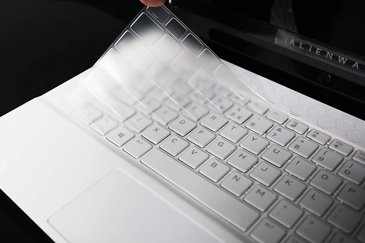 """LEZE - Keyboard Skin Cover Compatible with 15.6"""" Dell Alienware M15 R2 M15 R3 & Dell G7 15 7500 Gaming Laptop - TPU"""