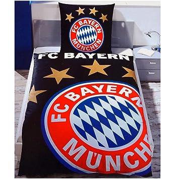 Fc Bayern München Wende Bettwäsche übergröße 155 X 220 Cm Schwarz