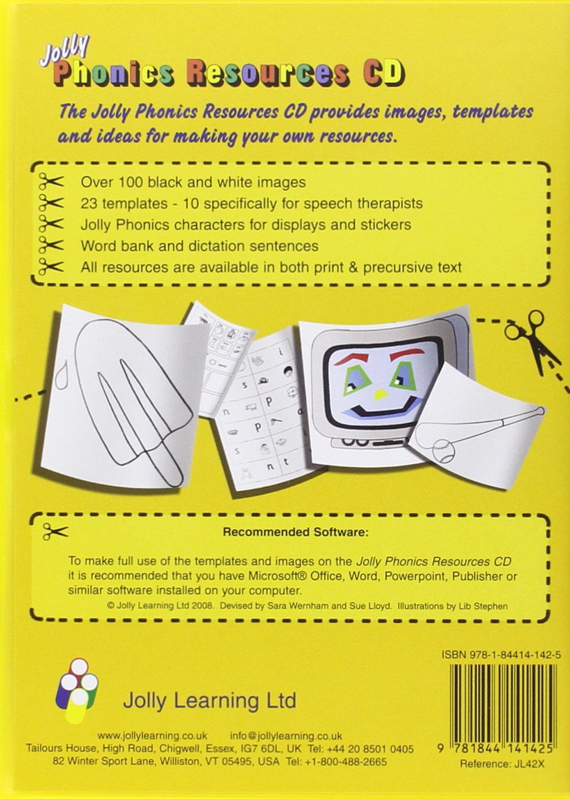 Workbooks jolly phonics workbook 1 free download : Jolly Phonics Resources CD: Amazon.co.uk: Sara Wernham, Sue Lloyd ...