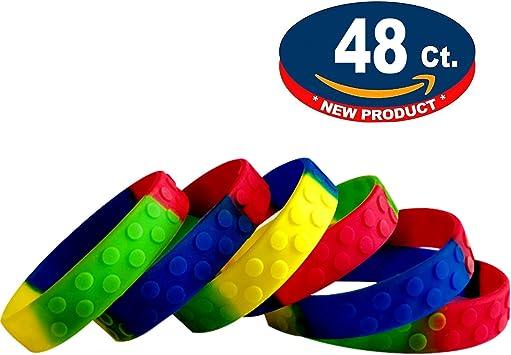 Amazon.com: Eventitems - Paquete de 48 pulseras de silicona ...