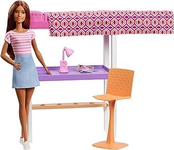 Barbie Playset Camera Da Letto Bambola Brunette Con Letto Scrivania E Accessori Giocattolo Per Bambini 3 Anni Fxg52 Amazon It Giochi E Giocattoli