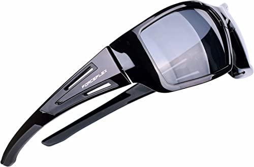 ForceFlex FF500 Sunglasses for Men or Women, Black