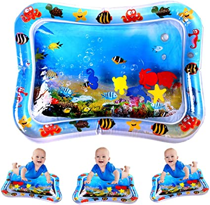 Inflatable Water Play Mat Infants Toddlers Fun Tummy Time Play Activity Center Y