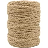 Tenn Well 5mm Jute Twine, 100 Feet Braided Natural Jute Rope for Artworks and Crafts, Macrame Projects, Gardening Application