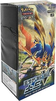 Pokemon Card Sword & Shield Booster Pack Box 30 Packs in 1 Box + 3pcs Premium Card Sleeve Korea Version TCG Sword s1W: Amazon.es: Juguetes y juegos