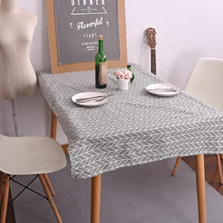 Zu0026N Rectangular Tablecloth Casual Dining Room Table Linen Table Cloth Table  Covers Tablecloths Fit Parties Garden
