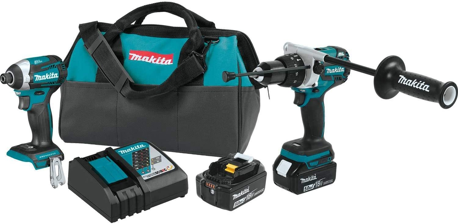 Makita XT268T 18V LXT Lithium-Ion Brushless Cordless 2-Pc. Combo Kit 5.0Ah