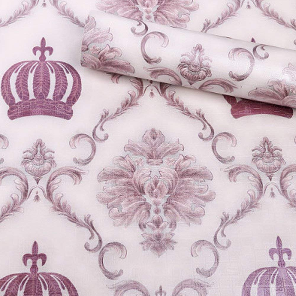 LIFAVOVY Black Damask Peel and Stick Wallpaper Removable Contact Paper Decorative Self Adhesive Shelf Drawer Liner Roll 17.7 x 393 WOWFASHION