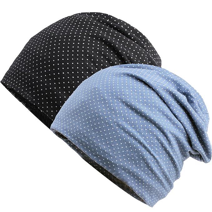 437ac094fae BW Women Men Cotton Soft Sleep Cap Beanie for Hairloss