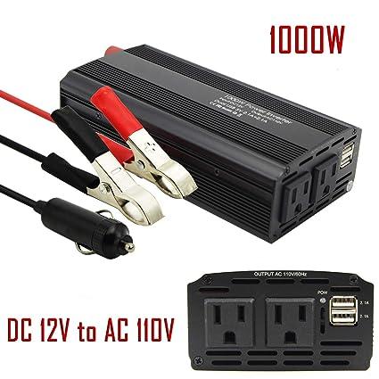 Amazon com: BST 1000W Car Power Inverter DC 12V to AC 110V 2