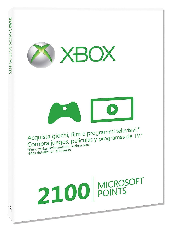Microsoft - Tarjeta De 2.100 Puntos (Xbox 360): Amazon.es ...