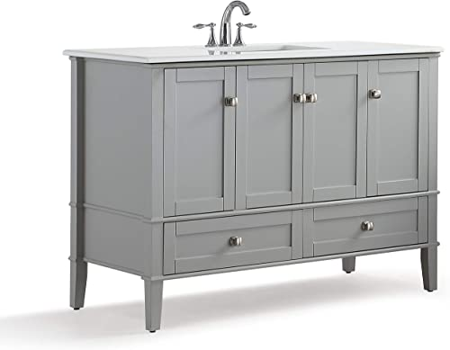 SIMPLIHOME Chelsea 48 inch Contemporary Bath Vanity